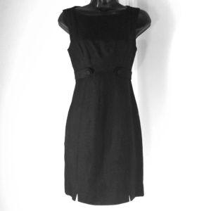 LAUNDRY by SHELLI SEGAL sz 2 black linen fit